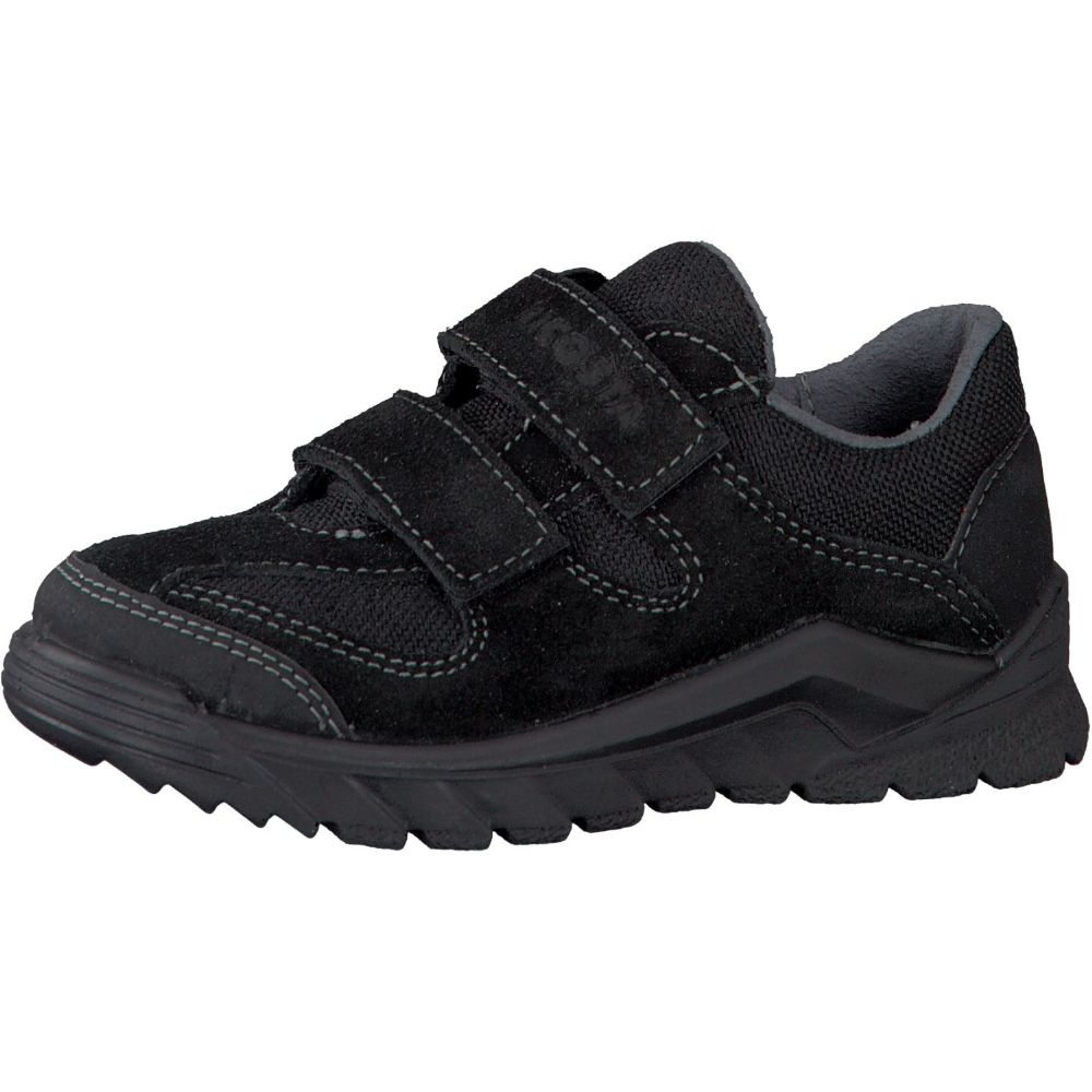 Ricosta NIRO Waterproof Leather School Trainer Shoe (Black)